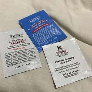 KHIEL'S SAMPLES (FACIAL SOAP + 2 MOISTURIZER) PRICE EXCLUDE ONGKIR