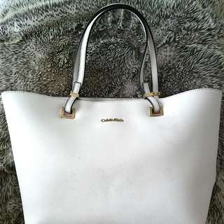 calvin klein white purse