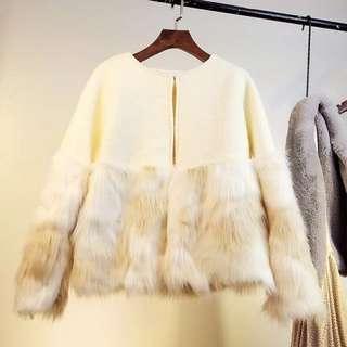韓國餓 毛毛 氣質貴氣外套