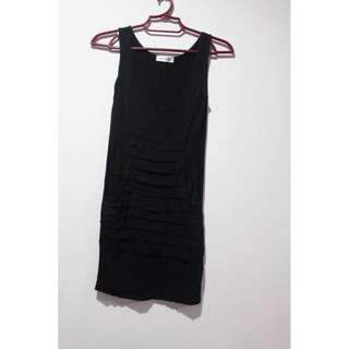 Black Bodycon Dress w pockets