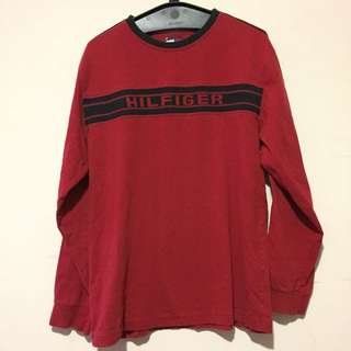 Tommy Hilfiger Spell Out Sweater Red