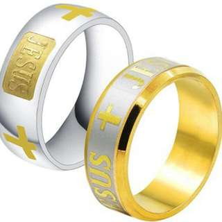 耶穌 十字架 基督教 戒指 指環