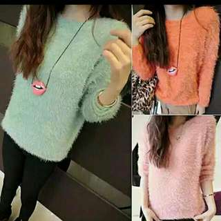 Long Sleeve Sweater (Pink)