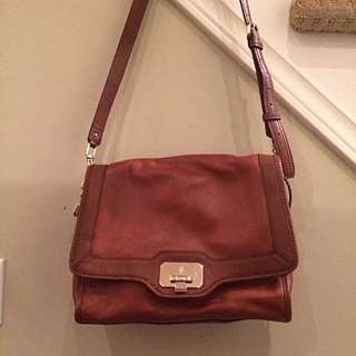 COLE HAAN Brown Leather Shoulder/Crossbody Bag