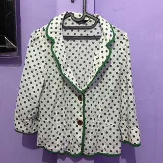 blazer white polkadot