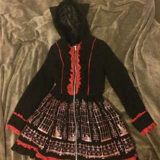 Red And Black Lolita Cosplay Jacket