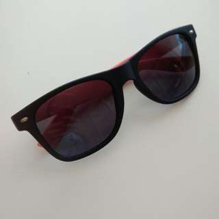 Matte Black & Pink Sunglasses