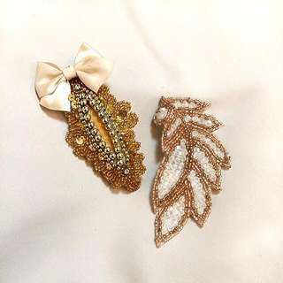 Cute Beaded Hair Clips
