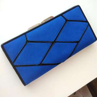 Blue Geometric Pattern Wallet