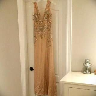 Nude Colour Laced Night Gown