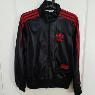 Adidas Leather Look Jacket Size 12