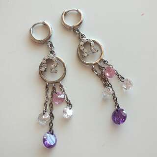 Cute Dangle Silver Earrings