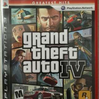 BD PS3 : GRAND THEFT AUTO 4 : GREATEST HITS  Region : 3