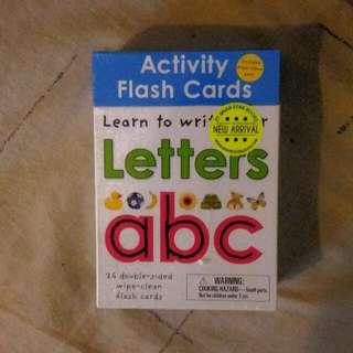 REPRICE! Flash Card Alfabet (ambil sama yg Angka jadi 175k)