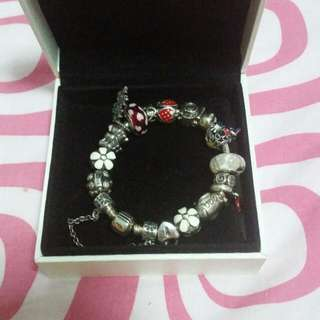 Pandora 17cm Bracelet With Charms