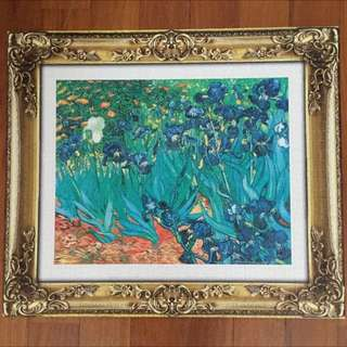 Gogh, Vincent Van Irises Plastic Jigsaw Puzzle