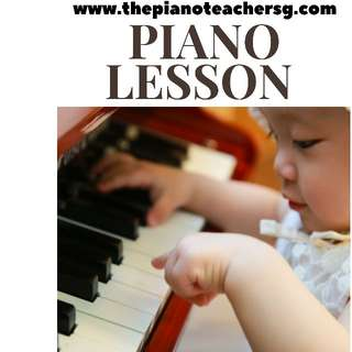 Piano lesson for beginner