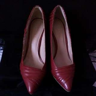 Red Charles and Keith Shoes Repriced