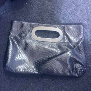 Michael Kors Metallic Snakeskin Clutch