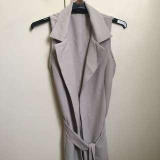 Blazer Sleeveless Coat Jacket