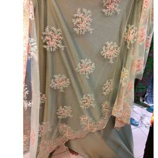Lace Glitter Korean (Soft Mint Green)