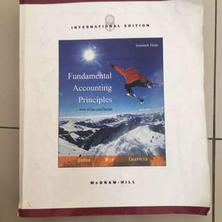 Fundamental Accounting Principles 17th Rdition