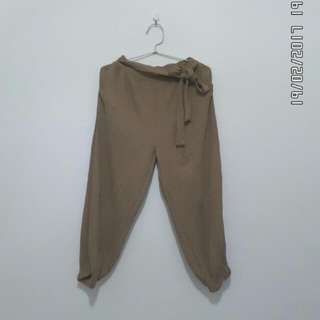 brown Prisket Ribbon pants