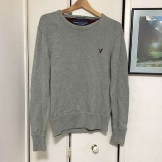 MEN'S AMERICAN EAGLE VINTAGE FIT GREY SWEATER SIZE M