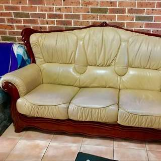 Leather Lounge 5seater
