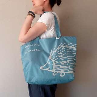 FUN 日雜~LISA 可愛刺蝟 折疊收納袋 購物袋 環保袋 旅行袋  托特包