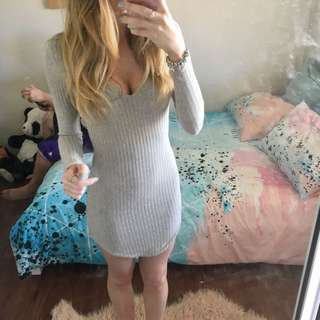 Knitted Scoop Dress