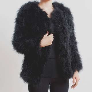 Black Fluffy Jacket Size Small