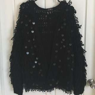 Chicabooti Fluffy Black Jacket Medium
