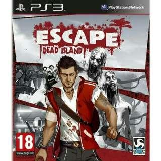 (NEW) PS 3, ESCAPE Dead Island , Genre ACTION