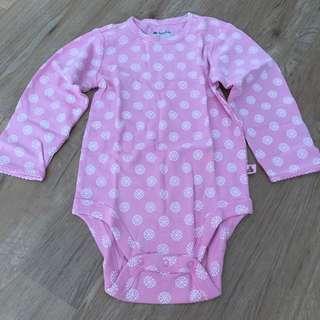 BabyGap Pink Long Sleeve Onesie Brand New