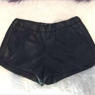 Zara Leather ShortPants