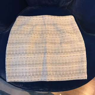 Forever 21 White Skirt with Silver Lining