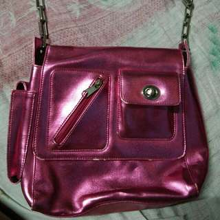 Metallic pink Korean Bag