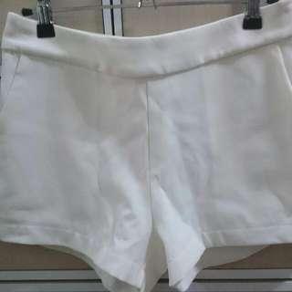 二手 queen shop alady 白 白色 西裝 短褲