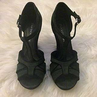 Wittner Suede & Velvet Heels - Size 9.5