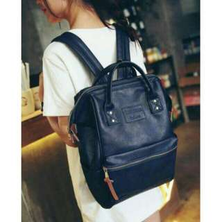 Leather Anello Inspired Backpack Medium