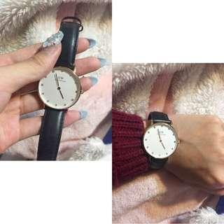 Dw皮革手錶
