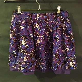 Ladakh Purple Floral Skirt
