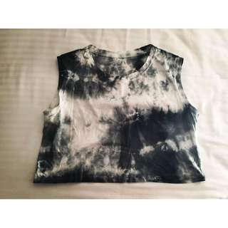 __HadeMade / BrandNew__ Tie-Dye Crop Top