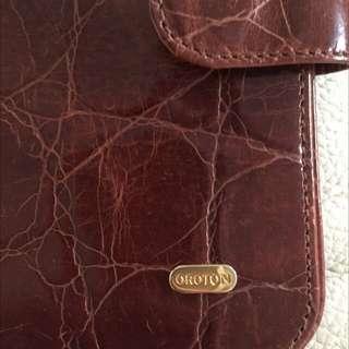 Oroton Hangar Brown Leather