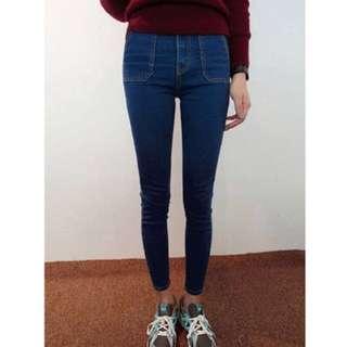 全新韓版高腰牛仔褲