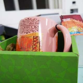 全新 星巴克 2004咖啡豆系列限量馬克杯 城市杯  附盒