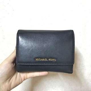 MK 黑色 短夾 皮夾 零錢包#運費我來出