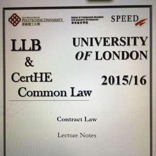 UOL LLB Contract Law notes from Poly U Speed
