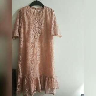 Peppermint Lace Dress